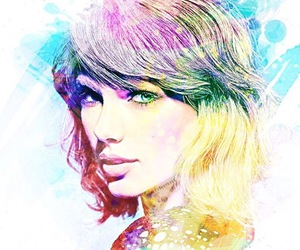 Taylor Swift, art, and colorful image