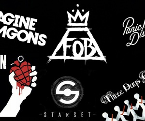 black, fall out boy, and imagine dragons image