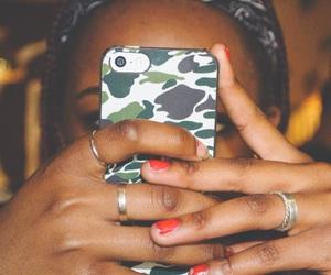 bandana, camouflage, and coffee house image