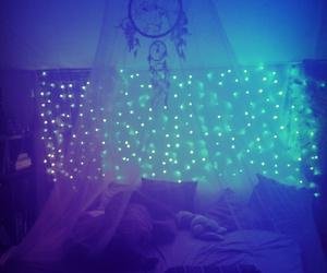 bedroom, Bleu, and Chambre image