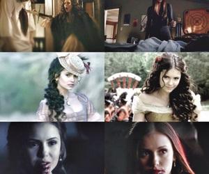 the vampire diaries, katherine pierce, and elena gilbert image