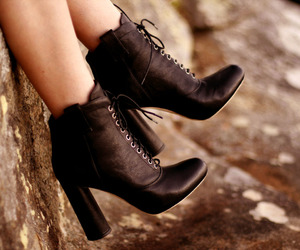 autumn, black, and laces image