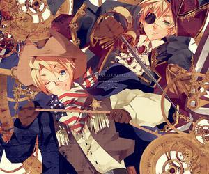 hetalia, america, and england image