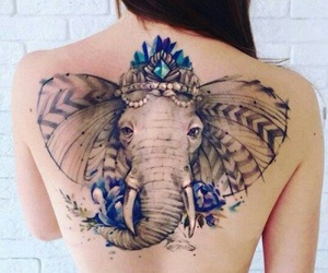 beautiful, elephant, and girl image