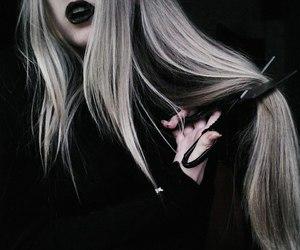 black, hair, and grunge image