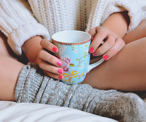 socks, winter, and cup image