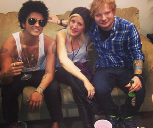 bruno mars, ed sheeran, and Ellie Goulding image