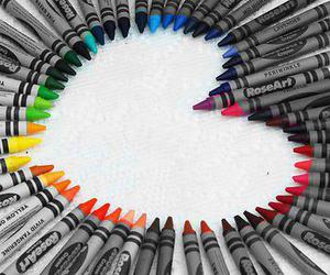 heart, crayon, and colors image