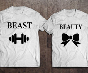 beast, beauty, and couple tshirts image