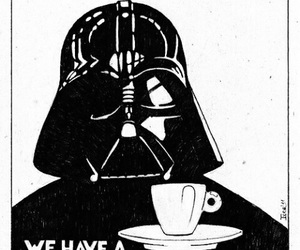 coffee, star wars, and darth vader image
