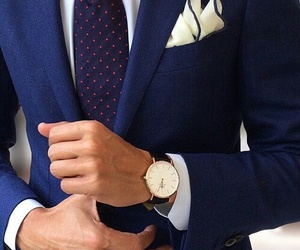 suit, watch, and man image