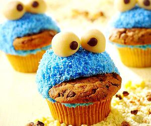 candy, cookie monster, and cupcake image