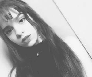 bangs, girl, and long hair image