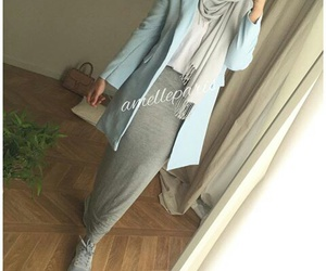 hijab, outfit, and scarf image