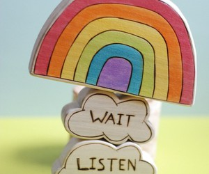 rainbow, listen, and wait image