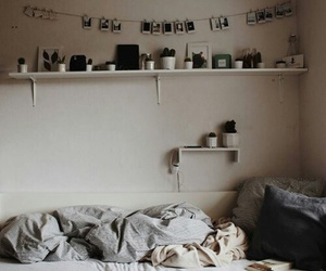 bedroom, tumblr, and white image