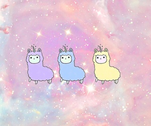 aesthetic, alpaca, and sparkles image