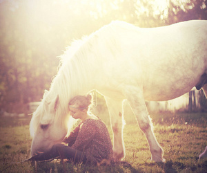 girl, horse, and romantic image