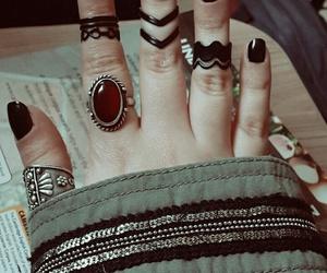 black, ring, and vintage image