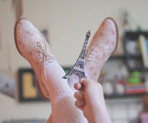 paris, shoes, and eiffel tower image
