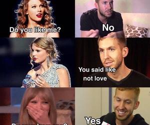 calvin harris and Taylor Swift image