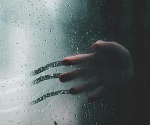 rain, hand, and grunge image