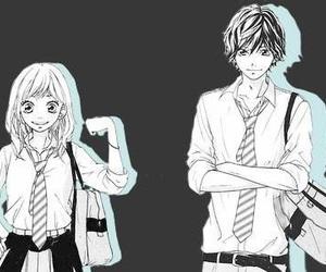 ao haru ride, couple, and kawaii image