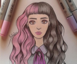 copic markers, draw, and cry baby image