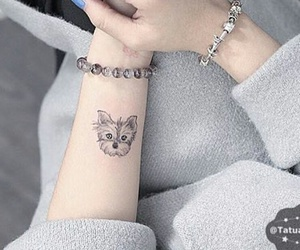 tattoo, cute, and dog image