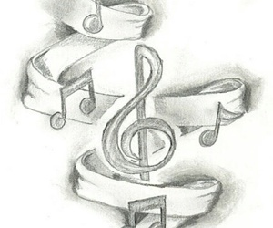 music, drawing, and art image