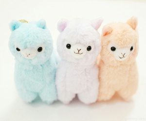 cute, kawaii, and alpaca image