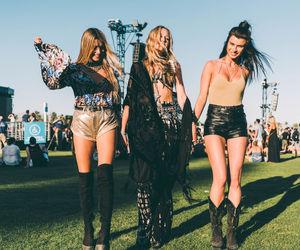 coachella, girls, and fashion image