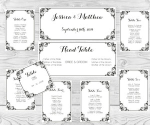 etsy, table number cards, and diy wedding template image