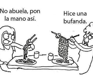 funny, abuela, and food image