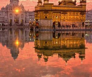 india, travel, and sunset image