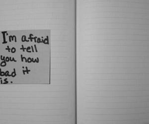sad, afraid, and bad image