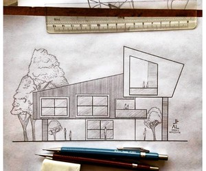 architecture, simple, and sketch image