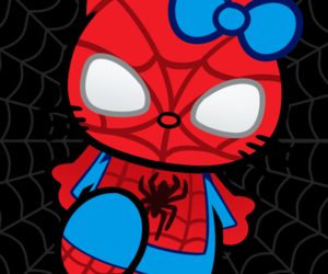 hello kitty and spiderman image
