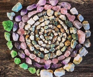stone, crystal, and hippie image