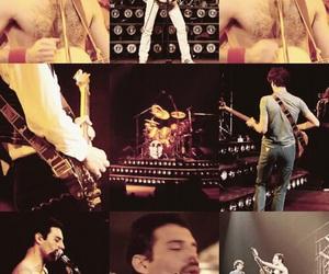 Freddie Mercury, roger taylor, and john deacon image
