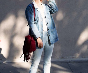 chic, azul, and casual image