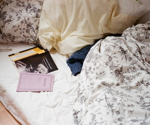 vintage, bed, and book image