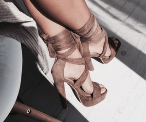 brown, lace up, and fashion image