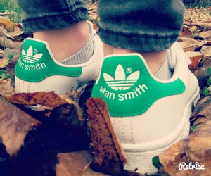 green, shoes, and stan smith image