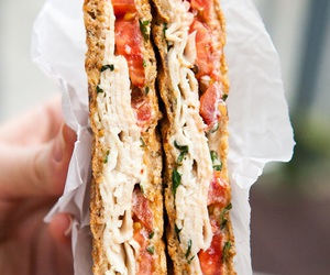 sandwich, food, and tomato image