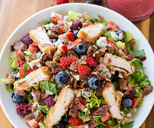 berry, chopped, and Chicken image