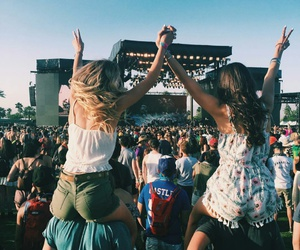 coachella, festival, and girls image