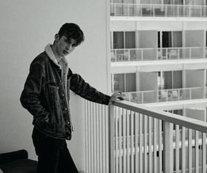 troye sivan and black and white image