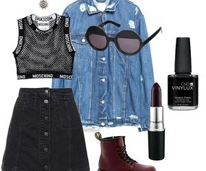 black skirt, grunge, and indie image