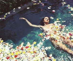 beauty, body, and flowers image